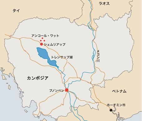 カンボジアマップ