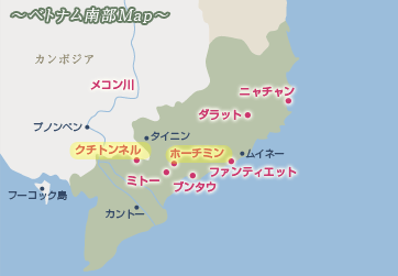クチトンネル地図