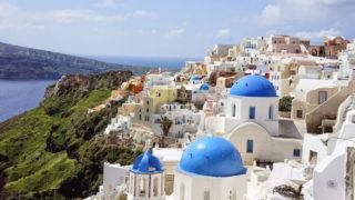 ギリシャ(3)サントリーニ島観光(イアの街を散策)