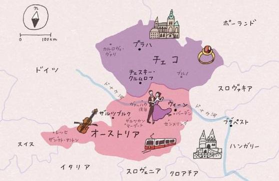 チェコ地図