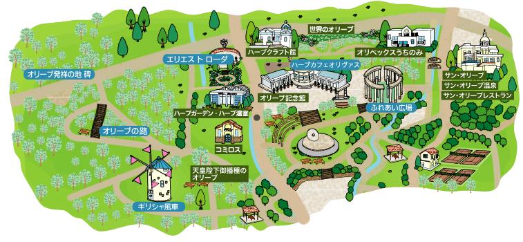オリーブ公園マップ