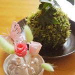 プリザーブドフラワー&苔玉作り体験