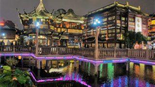 上海(8)夜の豫園商城