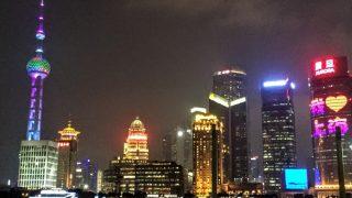 上海(4)35円の格安フェリーで外灘の夜景観賞