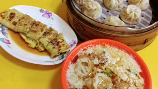 台北(5)世界豆漿大王で台湾式朝食