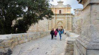 マルタ島(2) マルタ観光:青の洞門・イムディーナ