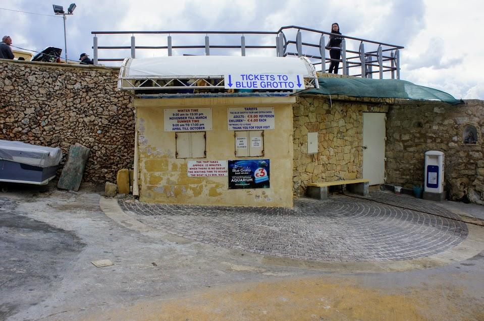 マルタ青の洞門ボートチケット売り場