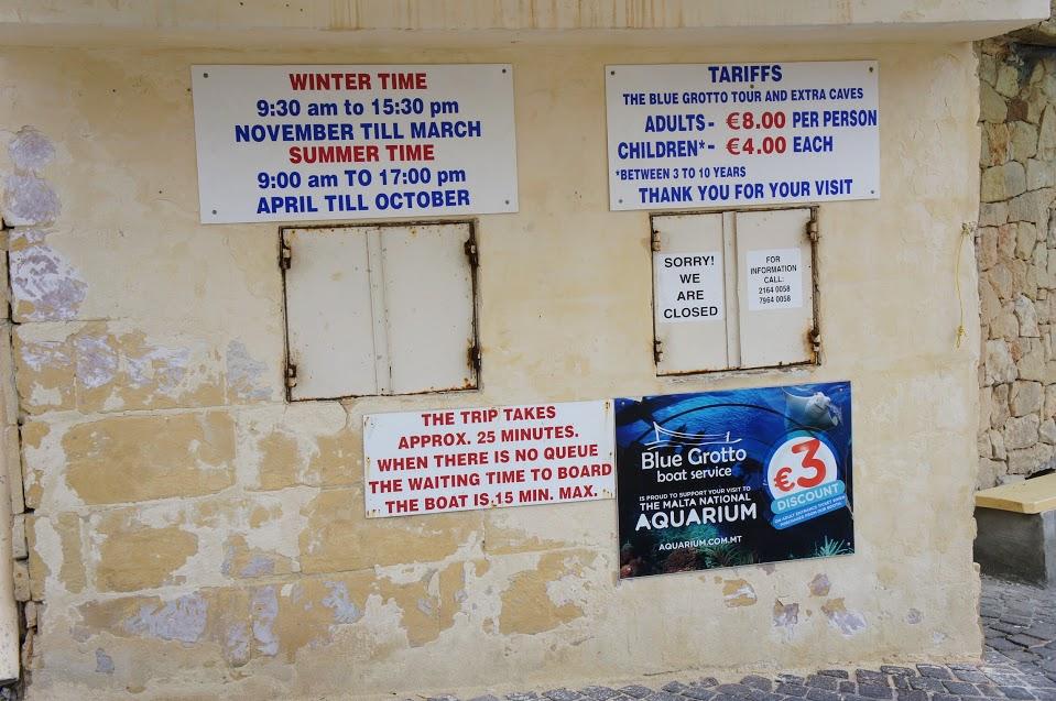 マルタ青の洞門ボート案内