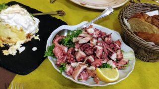 南イタリア(11) バーリの人気レストラン「La Tana Del Polpo」で夕食