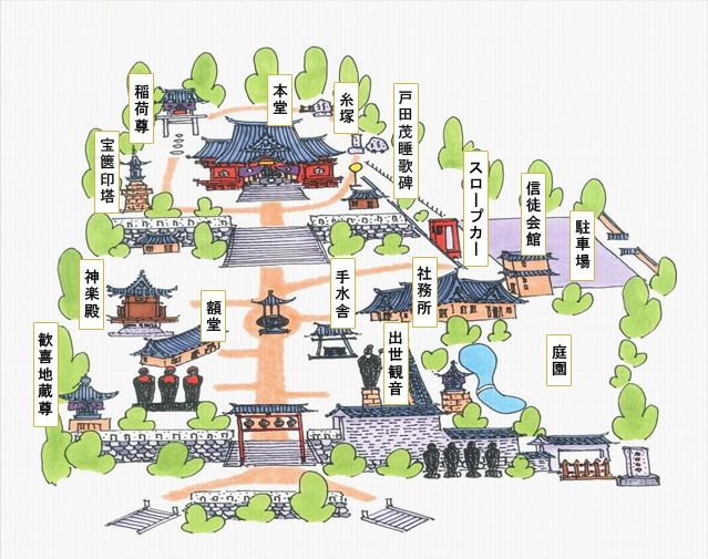 待乳山聖天境内マップ