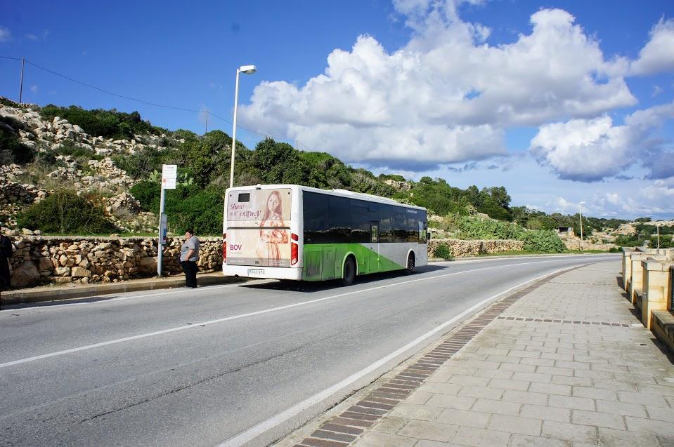 マルタ青の洞門バス停